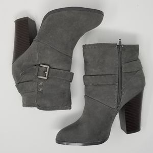JustFab | Xiomara Grey Booties